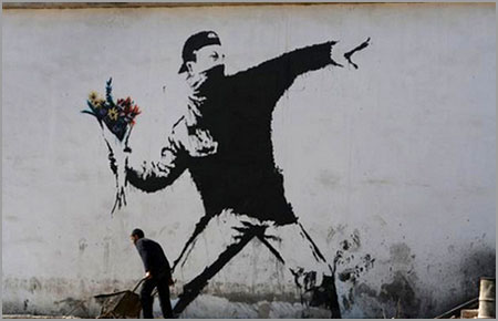 banksy-flower-thrower-israel-mural