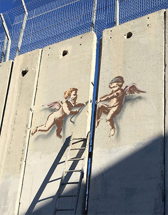 Banksy-Cherubs-West-Bank-Alternativity-Walled-Off-Hotel-Street-Art